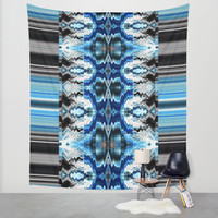 Sela Blue Wall Tapestry by Nina May Designs
