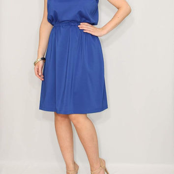 Royal blue Dress Short Bridesmaid dress