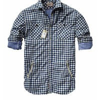 Bonded shirt in different checks