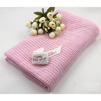 Breathe Freely Summer Cotton Baby Swaddling Blanket Newborns Soft Crochet Shawl Bed Spread Bath Towels Sleeping Bed Supplies