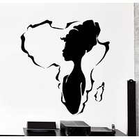 Vinyl Wall Decal African Africa Beauty Black Hot Woman Girl Home Interior Unique Gift z4468