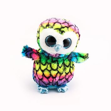 Ty Beanie Boos Big Eyes Multicolor Owl Stuffed & Plush Animals Toys Dolls