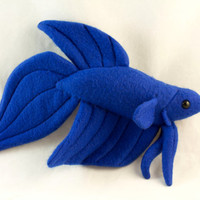 Betta Fish Plush - Royal Blue Veil Tail