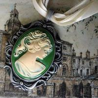 Green Cameo from Fourth Tower Jewelry