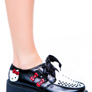 T.U.K. Hello Kitty Mondo Creeper Black/White