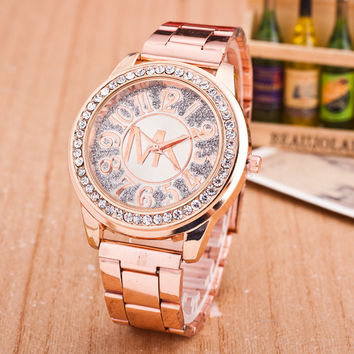Fashion Alloy Watch Diamonds Quartz Watch [9521595847]