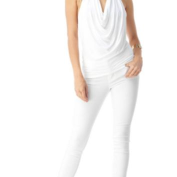 Sky - Aanee Solid White Top