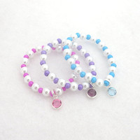 Kids Bracelet Children Jewelry Girls Kids Pink Bracelet Kids Purple Bracelet Kids Blue Bracelet Easter Bracelet Swarovski Gift