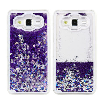 S7 Fun Glitter Star Flowing Water Liquid Plastic Case For Samsung Galaxy J5 S4 S5 S6 S6 edge Plus S7 S7 edge J7 Clear Cover