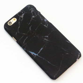 Cool Black Marble Texture iPhone 7 7Plus & iPhone 6 6s Plus & iPhone 5s se Case Hard Cover +Gift Box