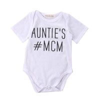 Auntie's MCM  Newborn Baby boys Girls Game Bodysuits Onesuit Infant Babies Kids Cute Bodysuit one-pieces Outfits Kids Clothing