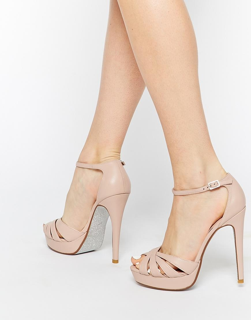dune blush leather platform sandals from asos