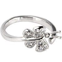 Sterling Silver 925 Cubic Zirconia Paved Butterfly Toe Ring