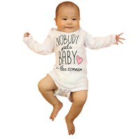 Nobody put baby in the conner Letter Print Baby One-pieces New Born Girls& Girls Clothes Long Sleeve O-Neck 6-24M Baby Rompers