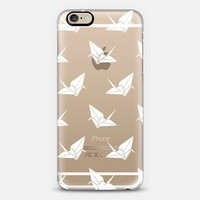 Origami Cranes: White iPhone 6 case by Nadia Hassan | Casetify