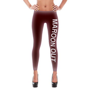 Texas A&M Maroon Out Leggings | The Inked Elephant