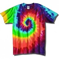 Tie Dye Mania Adult Classic Retro Swirl Tie-Dye Short Sleeve T-Shirt - Medium