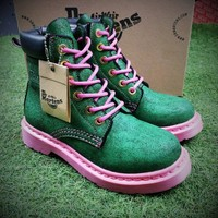 Best Online Sale Newest Dr. Martens Modern Classics 1460 Green Pink Boost