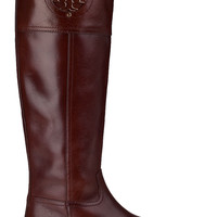 Tory Burch Kiernan Riding Boot Almond Leather - Jildor Shoes, Since 1949