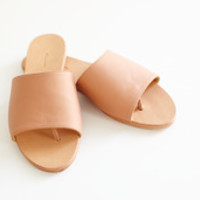 TERRA COTTA SLIDE SANDAL by The Palatines for Of a Kind