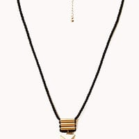 Roped Triangle Necklace