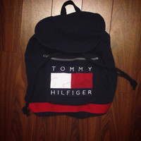 Vintage 1990's Tommy Hilfiger backpack bag school bag