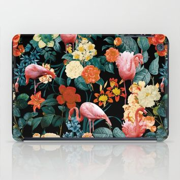 Floral and Flemingo II Pattern iPad Case by Burcu Korkmazyurek