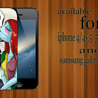 jack and sally kiss custom design hard plastic available for iphone 4/4s,5/5s/5c and samsung galaxy S3/S4/S5 case