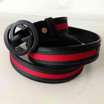 PEAPUP0 GUCCI Fashion Smooth Buckle Belt Leather Belt1