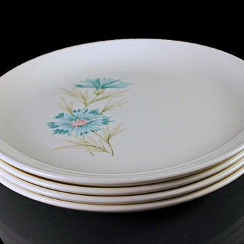 Bread and Butter Plates Boutonniere Taylor Smith and Taylor Ever Yours Set of 4