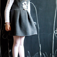 Dress pleated with animal, clothing girl handmade MatildeB