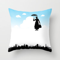 mary poppins Throw Pillow by notbook