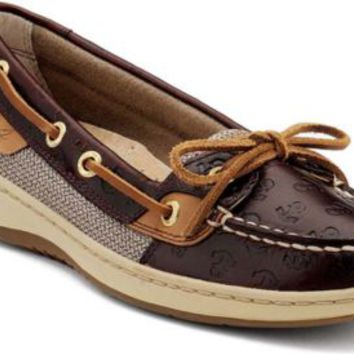 Sperry Top-Sider Angelfish Anchor Embossed Slip-On Boat Shoe CordovanEmbossedAnchors, Size 7M  Women's Shoes