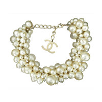 Chanel Spring 2013 Runway Multi Pearl Choker Necklace