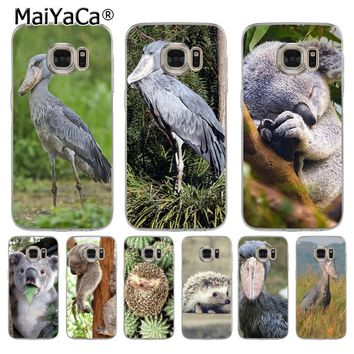 MaiYaCa Cute Animal Koala Hedgehog Shoebill  Coque Shell Phone Case for Samsung S5 S6 S7 Edge S8 Plus S6 Edge Plus S3 S4