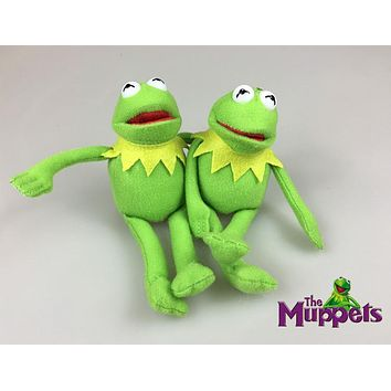 Sesame Street The Muppets Kermit the Frog Cute 15cm Plush Toys Cartoon Stuffed Dolls Keychain Pendant Kids Gift