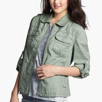 Sister Moon Roll Sleeve Cargo Jacket | Nordstrom