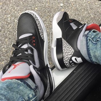 KUYOU NIKE AIR BLACK CEMENT 3s
