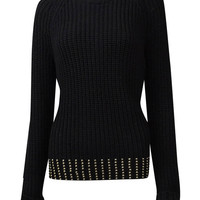 MICHAEL Michael Kors Women's Studded Hem Sweater