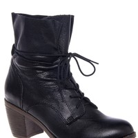 Gretchun Lace-Up Mid-Heel Bootie