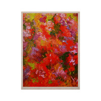 "Jeff Ferst ""Summer Garden"" Floral Painting KESS Naturals Canvas (Frame not Included)"
