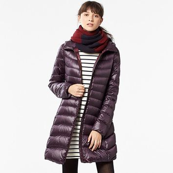 WOMEN ULTRA LIGHT DOWN HOODED PRINTED COAT | UNIQLO