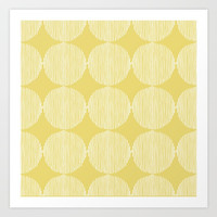 Sunny Circles Art Print by All Is One
