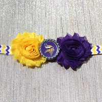 NFL Minnesota Vikings inspired headband- perfect for football season!