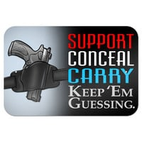"Support Conceal Carry Keep Guessing - 2nd Second Amendment Gun Law 9"" x 6"" Metal Sign"
