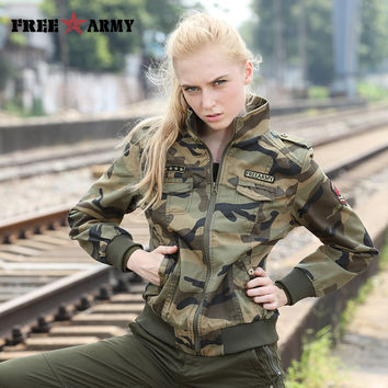 Autumn Jackets Women 2016 New Arrival Female Camouflage Jacket Chaquetas Mujer Fall Thick Jackets For Womens Coat GS-8338