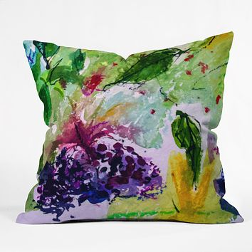 Ginette Fine Art Elder Berries Wild Fruit 2 Throw Pillow
