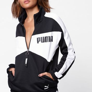 Puma Archive T7 Half Zip Crew Sweatshirt at PacSun.com