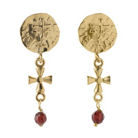 Sutton Hoo garnet earrings
