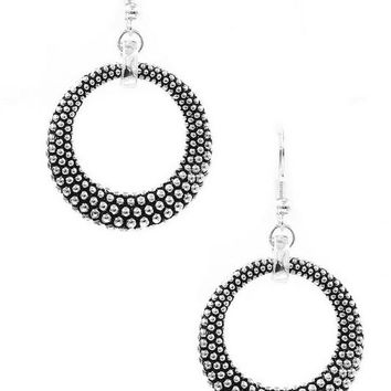 Textured Metal Drop Earring